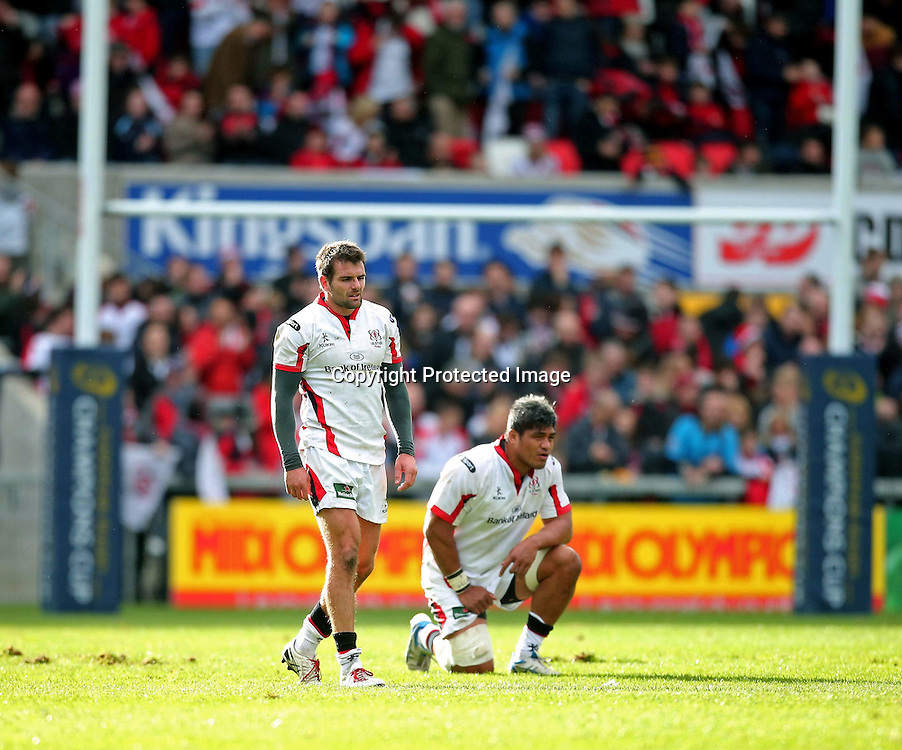 European Rugby Champions Cup Round 2, Kingspan Stadium, Belfast 25/10/2014<br /> Ulster vs Toulon <br /> Ulster's Nick Williams and Jared Payne dejected after the game<br /> Mandatory Credit &copy;INPHO/Presseye/Darren Kidd