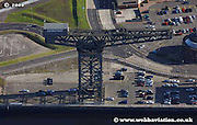aerial photograph of the Clydeport crane Glasgow Scotland