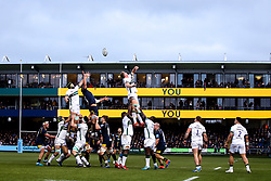 Worcester Warriors and London Irish contest a line out - Mandatory by-line: Robbie Stephenson/JMP - 28/12/2019 - RUGBY - Sixways Stadium - Worcester, England - Worcester Warriors v London Irish - Gallagher Premiership Rugby