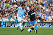 Brighton & Hove Albion's Beram Kayal and SS Lazio's Ravel Morrison during the Pre-Season Friendly match between Brighton and Hove Albion and SS Lazio at the American Express Community Stadium, Brighton and Hove, England on 31 July 2016.