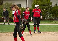 Laconia varsity softball with Stevens high school.  Karen Bobotas for the Laconia Daily Sun