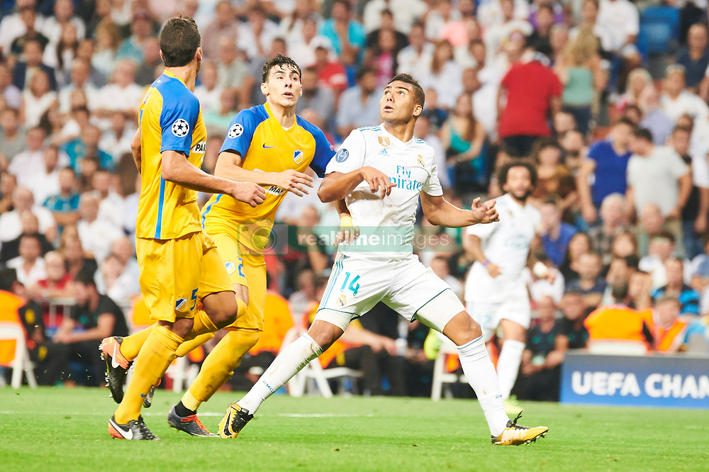 UEFA Champions League match between Real Madrid and Apoel FC at Santiago Bernabeu on September 13, 2017 in Madrid. 13 Sep 2017 Pictured: Casemiro (midfielder; Real Madrid). Photo credit: Jack G / MEGA TheMegaAgency.com +1 888 505 6342