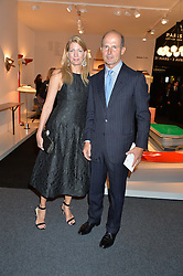 COUNT RICCARDO PAVONCELLI and COUNTESS COSIMA PAVONCELLI at the PAD London 2015 VIP evening held in the PAD Pavilion, Berkeley Square, London on 12th October 2015.