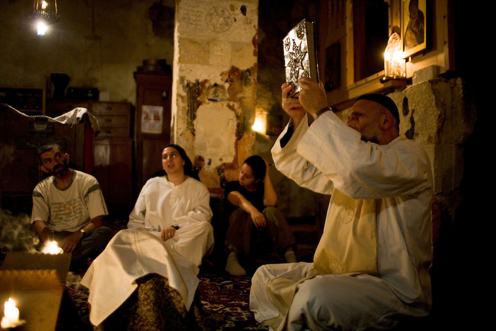 Deir Mar Musa al-Habashi, St. Moses the Abyssinian, monastery, a Syrian catholic monastic order for women and men refunded  in 1991 by an Italian Jesuit, father Paolo Dall'Oglio.