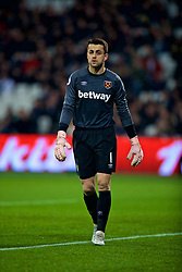 LONDON, ENGLAND - Monday, February 4, 2019: West Ham United's goalkeeper Lukasz Fabiański during the FA Premier League match between West Ham United FC and Liverpool FC at the London Stadium. (Pic by David Rawcliffe/Propaganda)