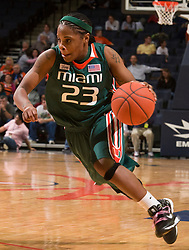 The #21 ranked Virginia Cavaliers defeated the Miami Hurricanes 85-74 in overtime at the John Paul Jones Arena in Charlottesville, VA on February 19, 2009.