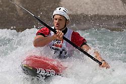 Marco Babuin of Italy competes in the Men's Kayak K1 at Kayak & Canoe ICF slalom race Tacen 2010 on May 16, 2010 in Tacen, Ljubljana, Slovenia. (Photo by Vid Ponikvar / Sportida)