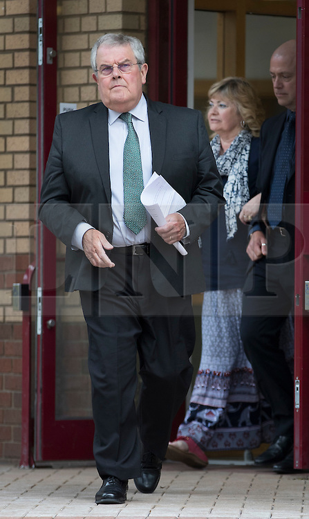 """© Licensed to London News Pictures. 03/06/2016. Woking, UK.  Doreen James and Des James leave Woking Coroner's Court. A second inquest into the death of army recruit Private Cheryl James has announced its verdict today. Coroner Brian Barker QC has ruled the death of Private James was caused by a """"self-inflicted"""" wound. Cheryl was found dead with a bullet wound to her head in November 1995.  Aged just 18 she was one of four young soldiers who died at the Deepcut Barracks in Surrey between 1995 and 2002, amid claims of bullying and abuse. Photo credit: Peter Macdiarmid/LNP"""