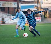 - Monifieth High (light and dark blue hoops)  v  Grove Academy (light blue)  in the Senior Schools Cup final, Dens Park, Dundee, Photo: David Young<br /> <br />  - &copy; David Young - www.davidyoungphoto.co.uk - email: davidyoungphoto@gmail.com