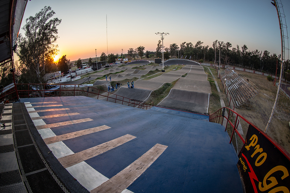 at Round 10 of the 2019 UCI BMX Supercross World Cup in Santiago del Estero, Argentina