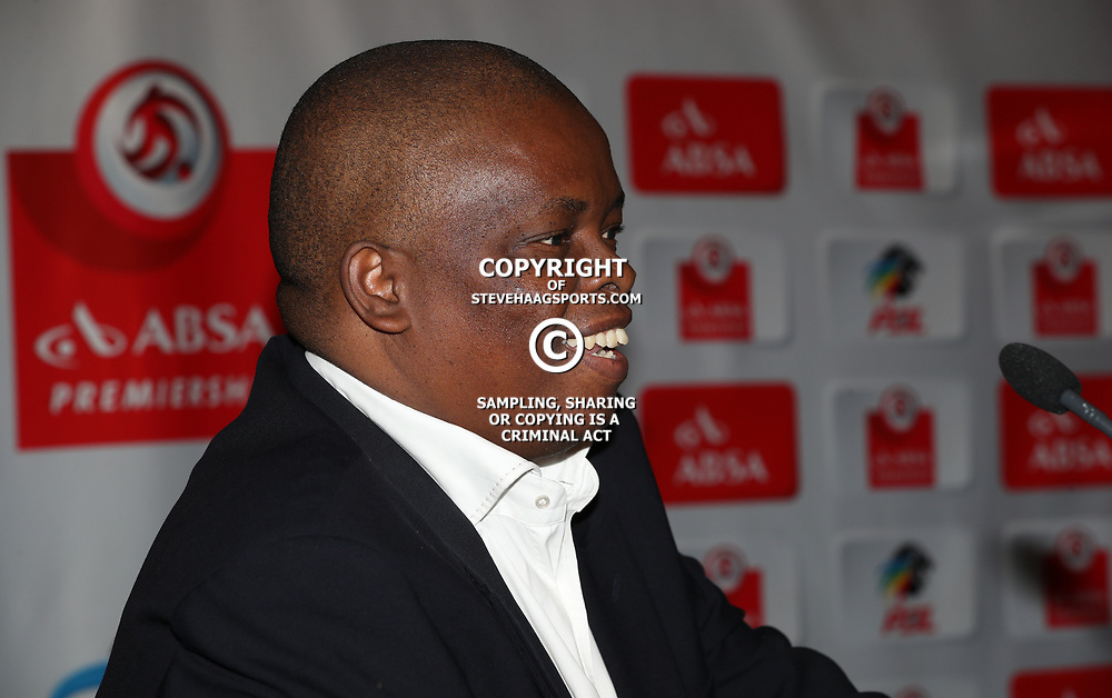 Dante Mahile of ABSA during the Absa Premiership Press Conference at Moses Mabhida Stadium,26th April 2017 (Photo by Steve Haag)