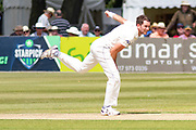 Matt Taylor bowling during the Specsavers County Champ Div 2 match between Gloucestershire County Cricket Club and Leicestershire County Cricket Club at the Cheltenham College Ground, Cheltenham, United Kingdom on 15 July 2019.