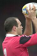 01/02/2004 Parker Pen Challenge Trophy.Saracens v Montferrand.Raphael Ibanez....   [Mandatory Credit, Peter Spurier/ Intersport Images].