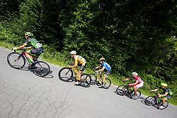 Martin Haring of Dukla Banska Bystrica, Benjamin Hill of Ljubljana Gusto Xaurum, Nik Cemazar of Slovenija National Team, Jon Bozic of Adria Mobil Cycling Team and Juraj Bellan of Dukla Banska Bystrica during 1st Stage of 25th Tour de Slovenie 2018 cycling race between Lendava and Murska Sobota (159 km), on June 13, 2018 in  Slovenia. Photo by Vid Ponikvar / Sportida