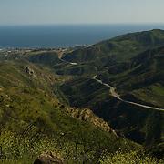 Kanan Road .Santa Monica Mountains park. California,USA.