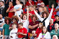 Bristol City fans wearing Han-Noah Massengo wigs - Rogan/JMP - 14/09/2019 - Bet365 Stadium - Stoke, England - Stoke City v Bristol City - Sky Bet Championship.