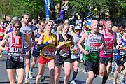 London. United Kingdom. 2014 London Marathon.  Narrow Street Limehouse, East London. Athletics 11:41:47  Sunday  13/04/2014  [Mandatory Credit; Peter SPURRIER/ Intersport Images],