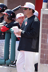 26 April 2015:    during an NCAA Division I Baseball game between the Missouri State Bears and the Illinois State Redbirds in Duffy Bass Field, Normal IL