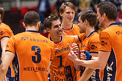 14-04-2019 NED: Achterhoek Orion - Draisma Dynamo, Doetinchem<br /> Orion win the fourth set and play the final round against Lycurgus. Dynamo won 2-3 / Pim Kamps #7 of Orion