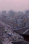 Dongdaemun (East Gate). Evening trafic.