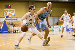 Luka Voncina of KD Ilirija and Mirko Mulalic of KK SIXT Primorska during basketball match between KD Ilirija and KK Sixt Primorska in Playoffs of Liga Nova KBM 2017/18, on April 25, 2018 in Tivoli sports hall, Ljubljana, Slovenia. Photo by Urban Urbanc / Sportida