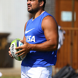 Cape Town, SOUTH AFRICA,  12, February  2016 -   Agust&iacute;n Creevy (Cap) of the Jaguares during the Captain Run for The Jaguares at City Park Newlands Rugby Stadium Cape Town, South Africa. (Photo by Steve Haag)<br /> <br /> Images for social media must have consent from Steve Haag