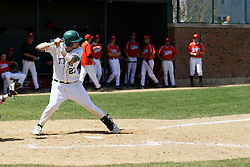 21 April 2007: Casey McIntosh. Carthage College loses the first game of a double header by a score of 5-2 against the Illinois Wesleyan Titans.