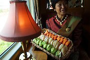 Exotic fruit tasting aboard the E&O Express , Kanchanaburi, Thailand