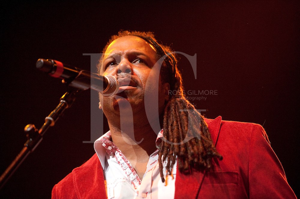 GLASGOW, UNITED KINGDOM - FEBRUARY 03: Brent Carter of Average White Band performs on stage during Celtic Connections Festival at Glasgow Royal Concert Hall on February 3, 2012 in Glasgow, United Kingdom. (Photo by Ross Gilmore