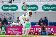 Morne Morkel of Surrey bowling for Surrey during the Specsavers County Champ Div 1 match between Surrey County Cricket Club and Hampshire County Cricket Club at the Kia Oval, Kennington, United Kingdom on 18 August 2019.
