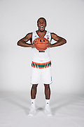 September 28, 2016: Mike Robinson #2 poses during  Miami Hurricanes Men's Basketball Photo Day in Coral Gables, Florida.