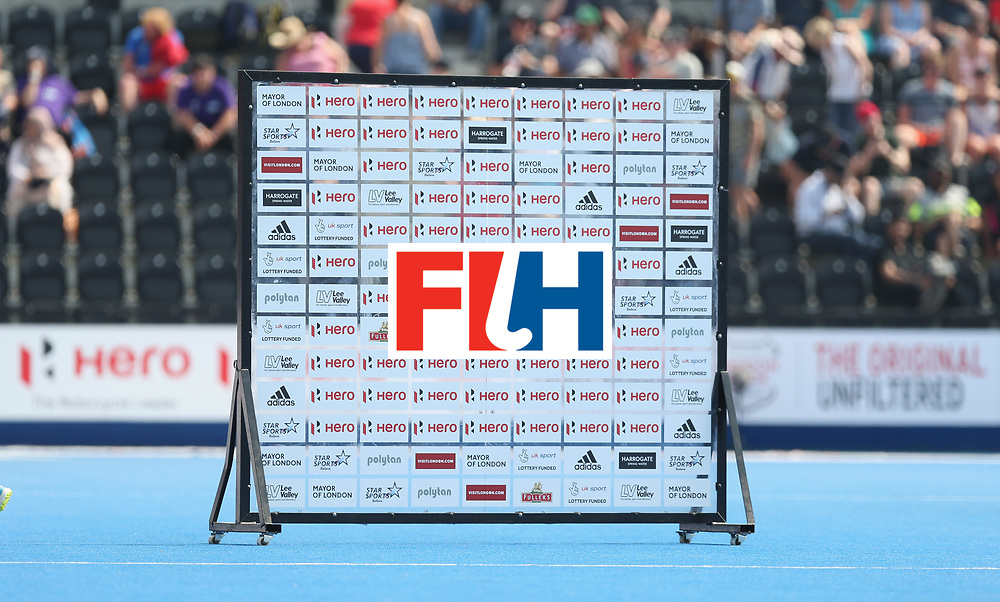 LONDON, ENGLAND - JUNE 18: Flash interview board during the Hero Hockey World League Semi-Final match between Pakistan and India at Lee Valley Hockey and Tennis Centre on June 18, 2017 in London, England.  (Photo by Alex Morton/Getty Images)