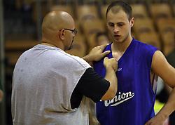 Coach Aleksandar Dzikic at first open practice of KK Union Olimpija in the new season 2008/2009, on August 21, 2008 in Hala Tivoli, Ljubljana, Slovenia. (Photo by Vid Ponikvar / Sportal Images)