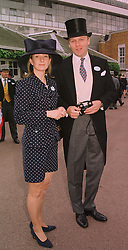 MR ANTHONY & LADY LOUISE BURRELL, she is the daughter of the Duke of Argyll, at Royal Ascot on 16th June 1998.MIL 58