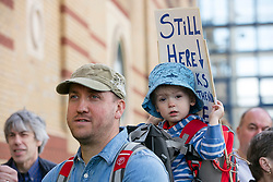 © London News Pictures. 20/05/2017. Southend, UK. Campaigners march through Southend on Sea, in Essex to protest against proposals to downgrade Southend Hospital A&E Department. Current plans by the NHS would lead to Southend Hospital losing its full 24 hour Blue Light Accident and Emergency service. Photo credit: Anna Lukala/LNP