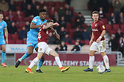 Rohan Ince  and Paul Andrerson   during the EFL Sky Bet League 2 match between Northampton Town and Cheltenham Town at the PTS Academy Stadium, Northampton, England on 29 December 2019.