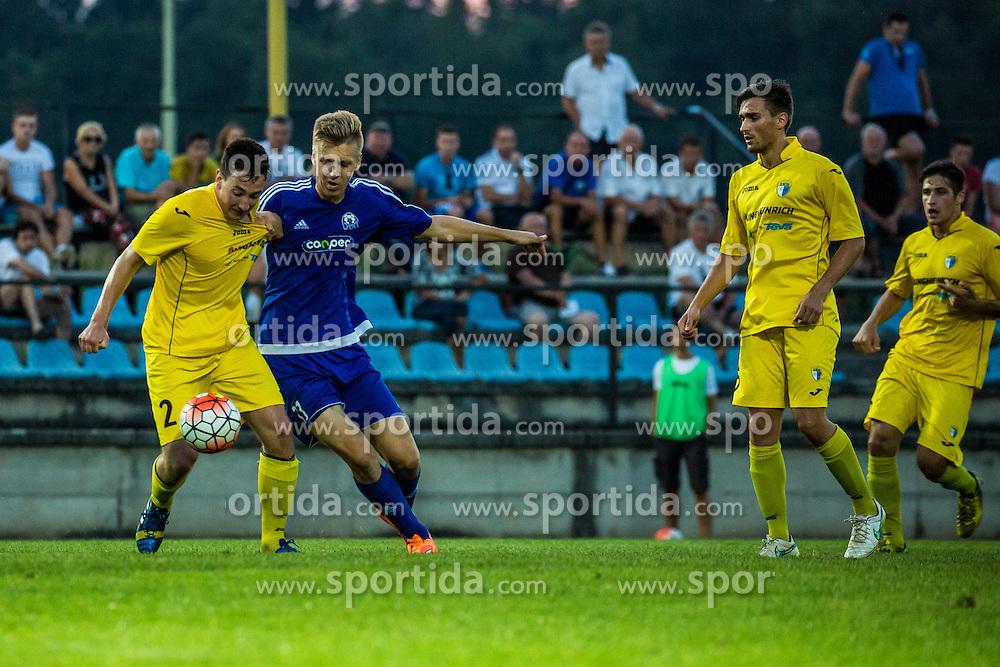 Football match between NK Sencur and NK Drava Ptuj in 1st Round of 2. SNL, on August 9, 2015 in Sports park Sencur, Sencur pri Kranju, Slovenia. Photo by Grega Valancic / Sportida