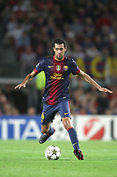 FOOTBALL - UEFA CHAMPIONS LEAGUE 2012/2013 - GROUP STAGE - GROUP G - FC BARCELONA v SPARTAK MOSCOW - 19/09/2012 - PHOTO MANUEL BLONDEAU / AOP PRESS / DPPI - SERGIO BUSQUETS
