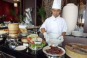 Beijing Duck. Sunday brunch at Shanghai 38 restaurant on the 38th floor of Sofitel Silom Bangkok.