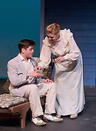 "Middletown, New York - Students from The Apprentice Players of the SUNY Orange Arts & Communications Department in a dress rehearsal of ""Playing with Fire"" at Orange Hall Theatre on Nov. 13, 2014."