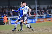 Peter Clarke, Joe Bunney during the Sky Bet League 1 match between Rochdale and Bury at Spotland, Rochdale, England on 12 March 2016. Photo by Daniel Youngs.