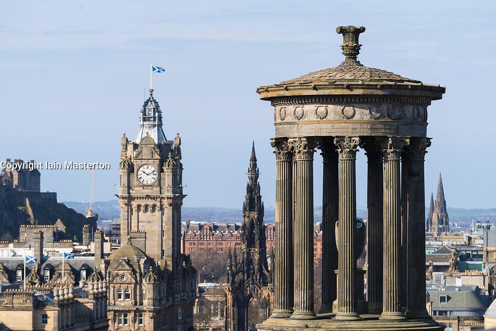 The famous view of Edinburgh from Calton Hill, Edinburgh, Scotland ,UK