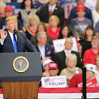 President Donald Trump held a rally for Cindy Hyde Smith and her campaign for U.S. Senate Tuesday night in Southaven.
