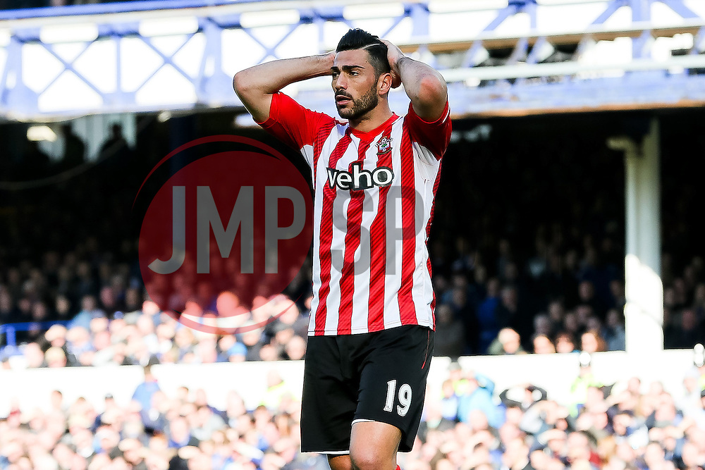 Southampton's Graziano Pelle shows a look of dejection after missing a chance - Photo mandatory by-line: Matt McNulty/JMP - Mobile: 07966 386802 - 04/04/2015 - SPORT - Football - Liverpool - Goodison Park - Everton v Southampton - Barclays Premier League