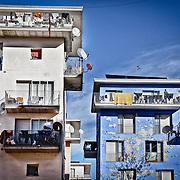 Ad otto anni dai fasti delle Olimpiadi invernali di Torinno 2006. L'ex villaggio olimpico di via Giordano Bruno occupato da centinaia di rifugiati africani mostra segni di forte degrado.