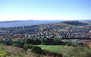 View over Dundee and the River Tay, Scotland