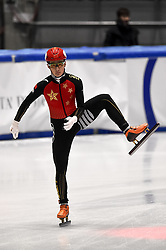 February 9, 2019 - Torino, Italia - Foto LaPresse/Nicolò Campo .9/02/2019 Torino (Italia) .Sport.ISU World Cup Short Track Torino - Men 500 meters Quarterfinals .Nella foto: Ziwei Ren..Photo LaPresse/Nicolò Campo .February 9, 2019 Turin (Italy) .Sport.ISU World Cup Short Track Turin - Men 500 meters Quarterfinals.In the picture: Ziwei Ren (Credit Image: © Nicolò Campo/Lapresse via ZUMA Press)