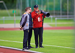 ROTTACH-EGERN, GERMANY - Friday, July 28, 2017: Photographer John Powell during a training session at FC Rottach-Egern on day three of the preseason training camp in Germany. (Pic by David Rawcliffe/Propaganda)