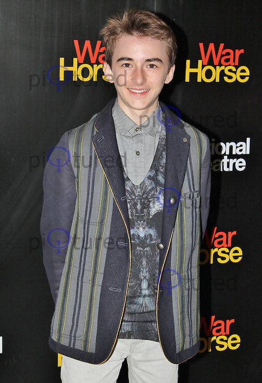 LONDON - October 25: Isaac Hempstead-Wright at the War Horse 5th Anniversary Performance (Photo by Brett D. Cove)