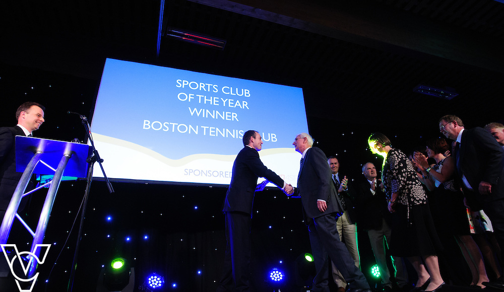 Lincolnshire Sport Awards 2016:<br /> <br /> Sports Club of the Year sponsored by First Aid 4 Sport.  Winner: Boston Tennis Club.  Runners-up: Kesteven Rugby and Seasiders.<br /> <br /> The 2016 Lincolnshire Sport Awards, organised by Lincolnshire Sport, and held at the Showground, Lincoln.<br /> <br /> Picture: Chris Vaughan Photography for Lincolnshire Sport<br /> Date: November 3, 2016